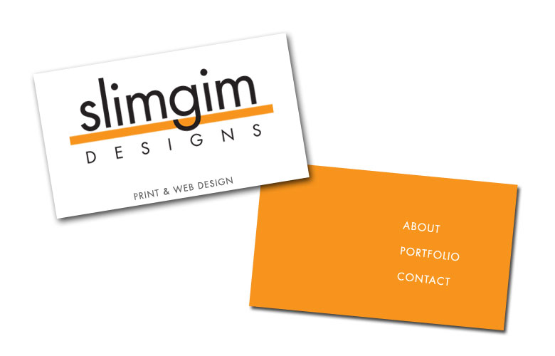 slimgim designs: print & web design